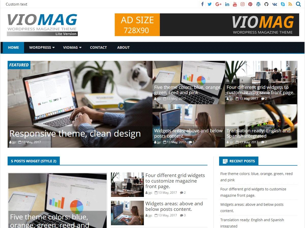 VioMag Child newspaper WordPress theme