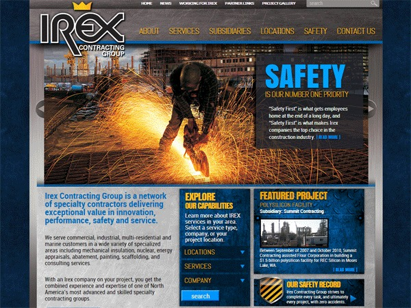 WordPress theme IrexContracting