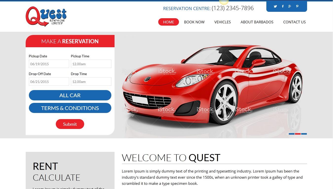 WordPress website template Quest Child Theme