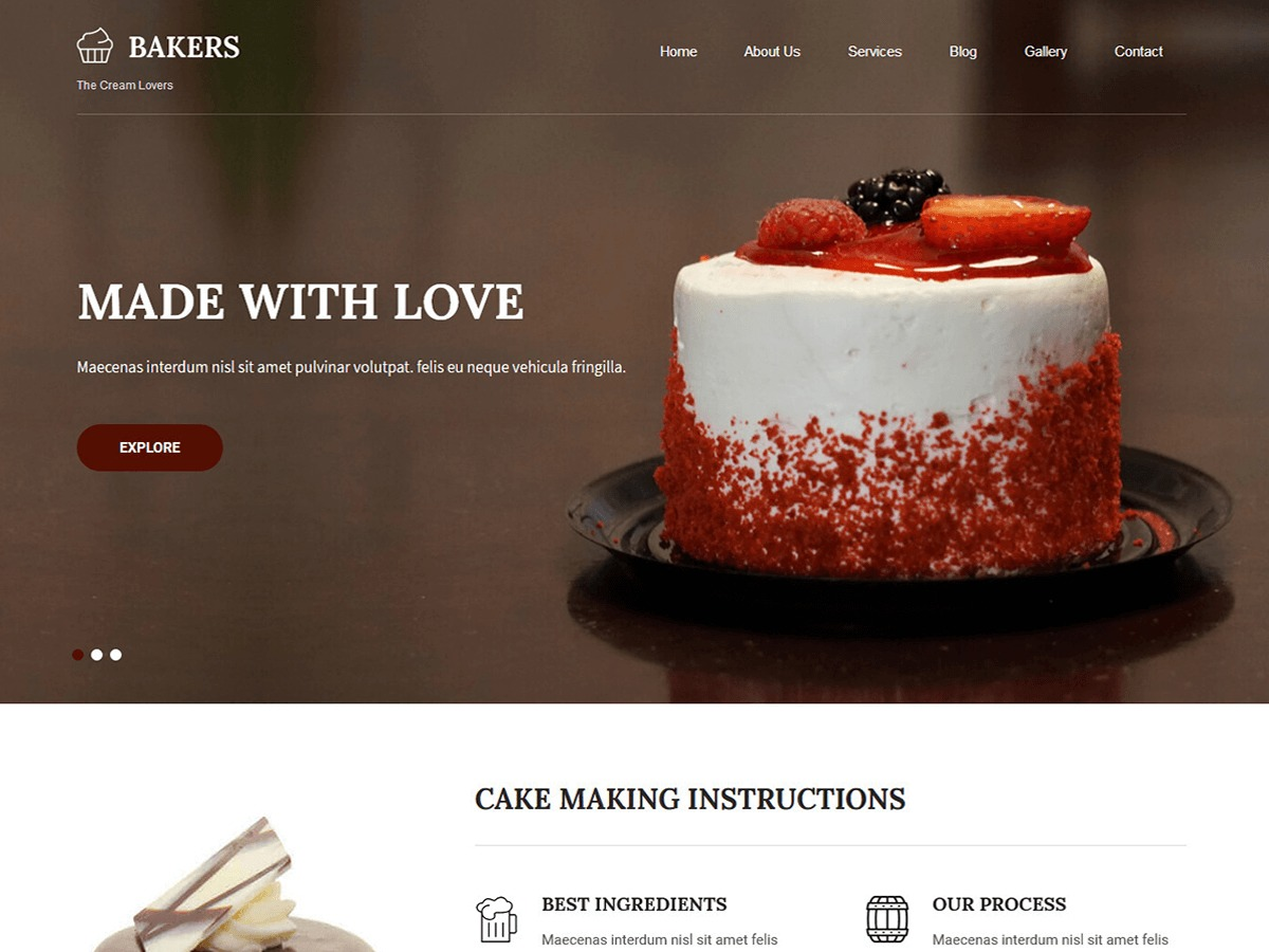 Bakers Lite WordPress shopping theme