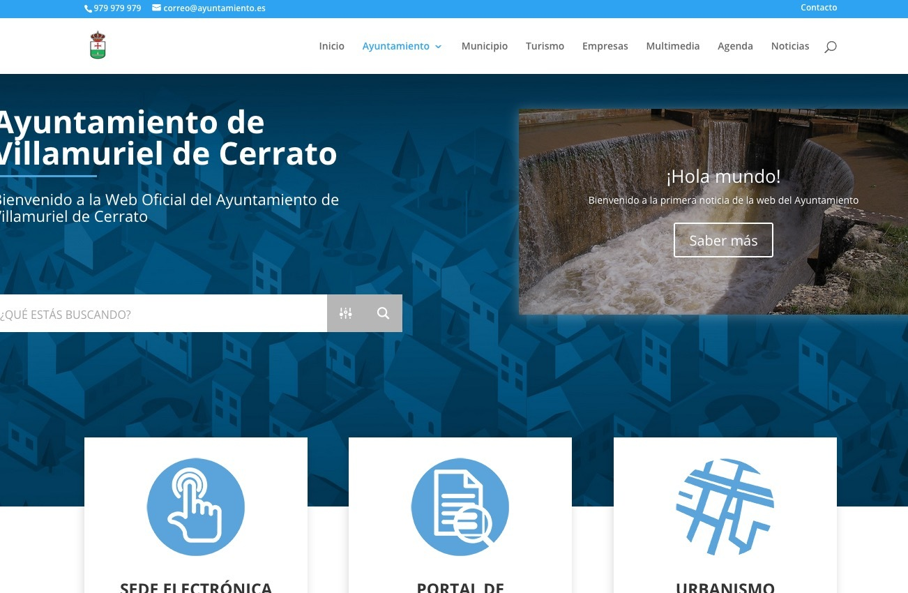 Best WordPress template Municipios Global Diputacion