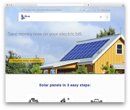Betheme business WordPress theme - quebecsolar.ca