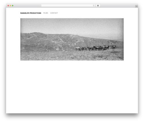 BLANK Theme premium WordPress theme - rangelifeproductions.com