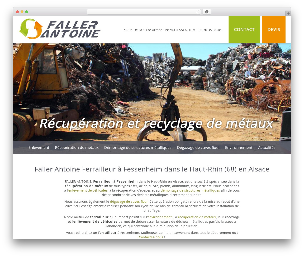 Bootstrap Basic WordPress template free download - recuperation-recyclage-68.fr