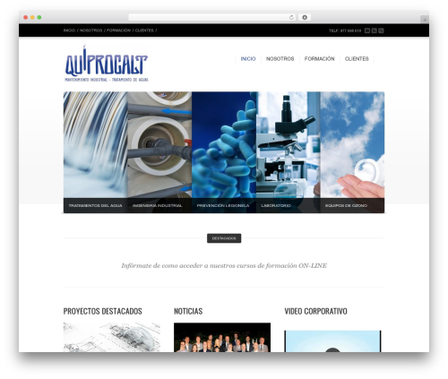 Corona WordPress website template - quiprocalt.com