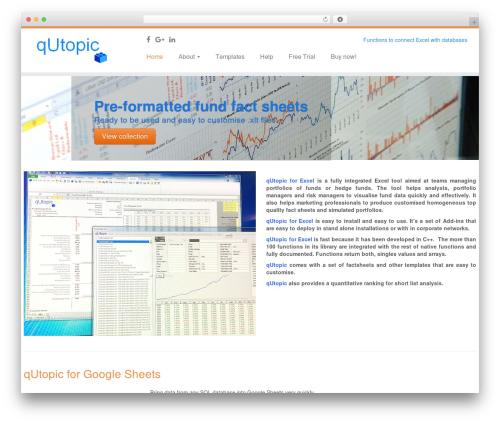 Customizr template WordPress free - qutopic.com