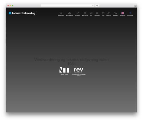 ida best WordPress template - industritaksering.no