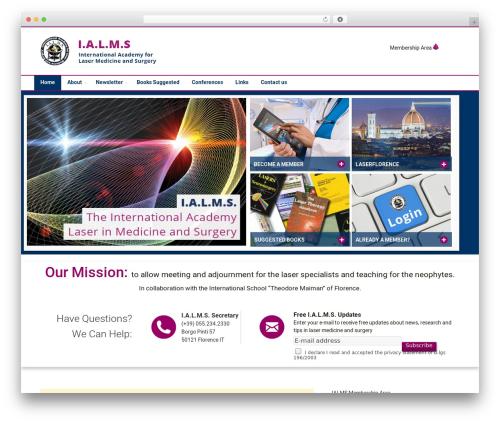Incentive WordPress website template - ialms.international