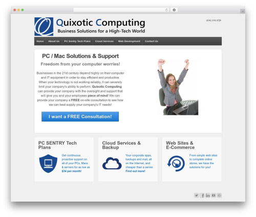 Responsive WordPress theme - quixoticcomputing.com