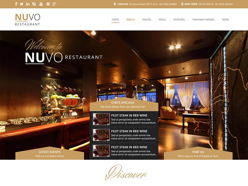 Restaurant India best restaurant WordPress theme