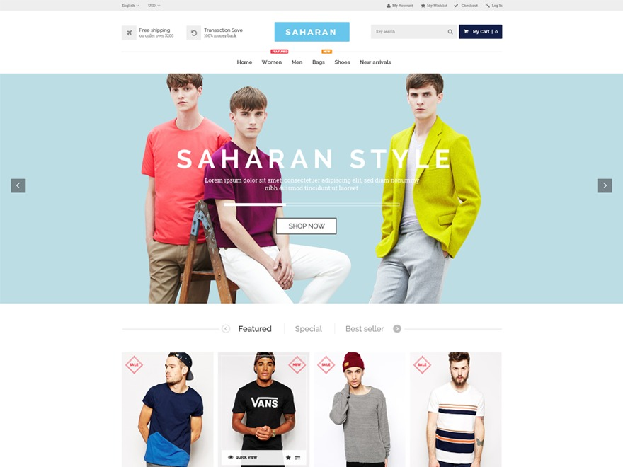 Saharan WordPress shop theme