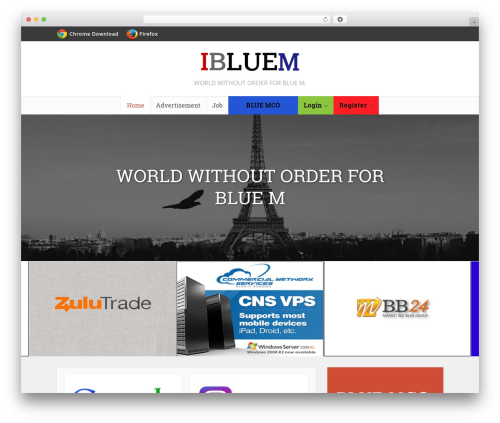 Voice WordPress website template - ibluem.com