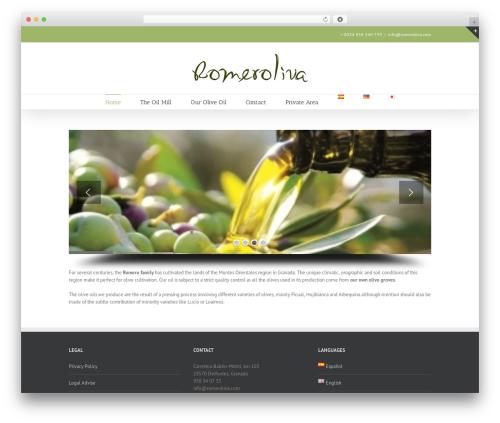 WordPress template Avada - romeroliva.com