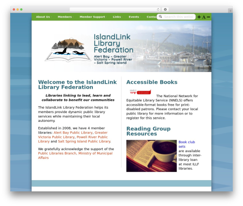 WordPress theme prototype - islandlink.bc.libraries.coop