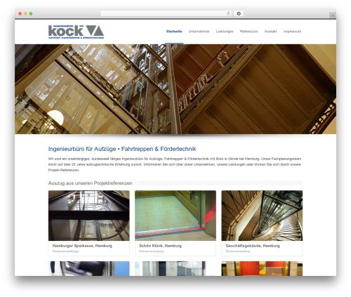 WordPress website template INOVADO - ibkock.de
