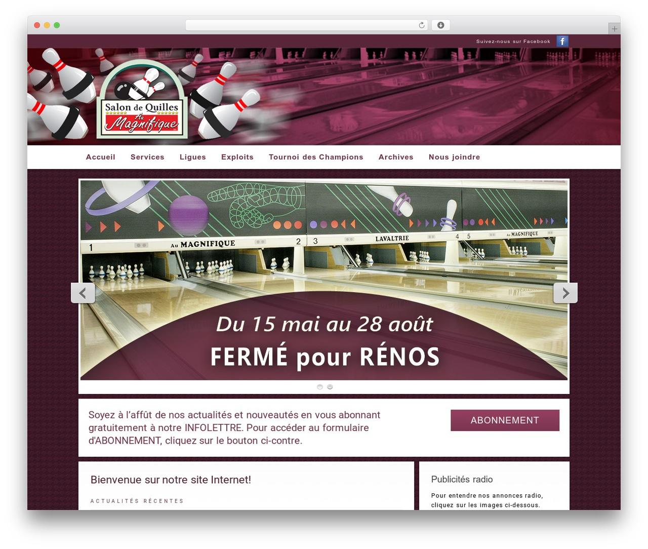 WordPress website template Modular - quillesaumagnifique.com