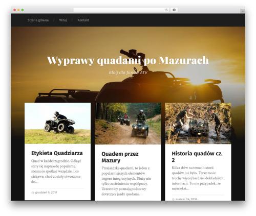 Garfunkel free WordPress theme - quady.mazury.pl