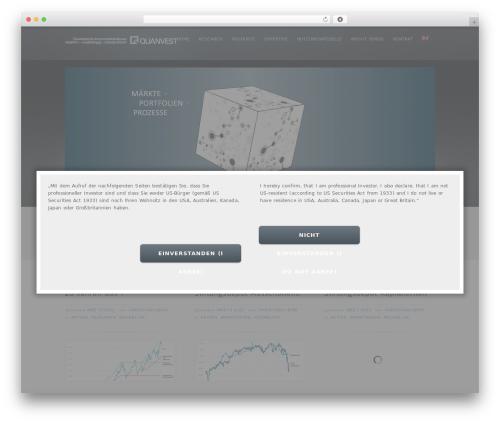 inFocus WordPress template - quanvest.de