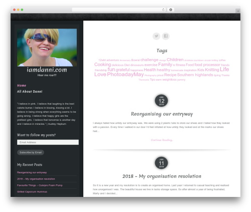 Theme WordPress Luminescence Lite - iamdanni.com