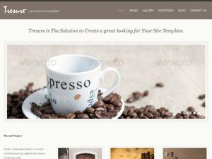 Tresure WordPress portfolio theme