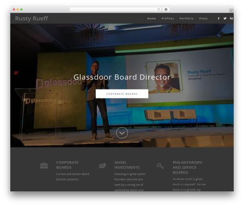 WordPress theme Osmosis - rustyrueff.com