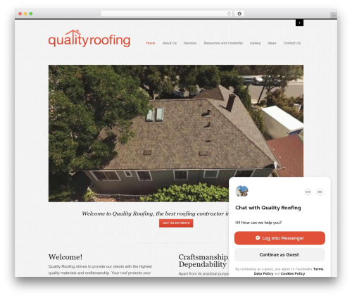 Agility WordPress theme - qualityroofsb.com