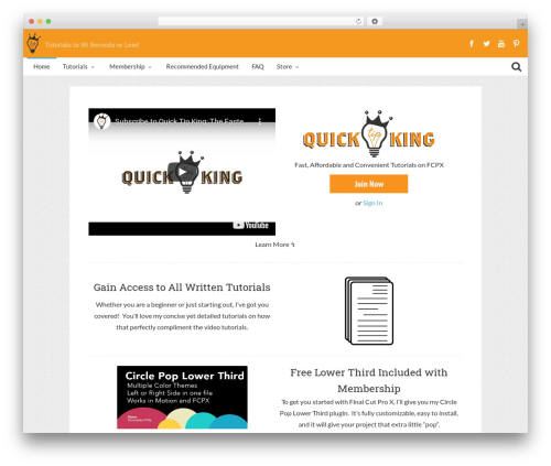 Bliss by Bluthemes top WordPress theme - quicktipking.com
