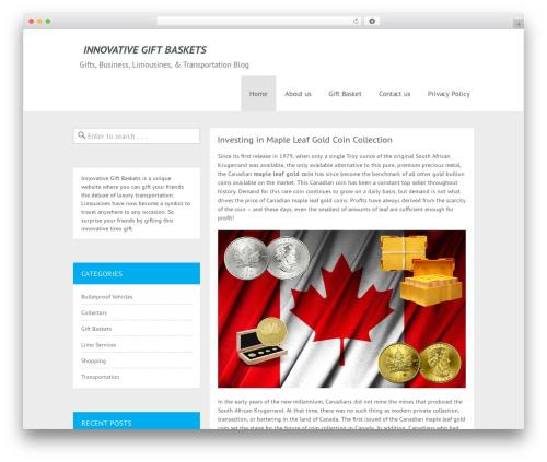 Cheap Travel WordPress travel theme - innovativegiftbaskets.ca