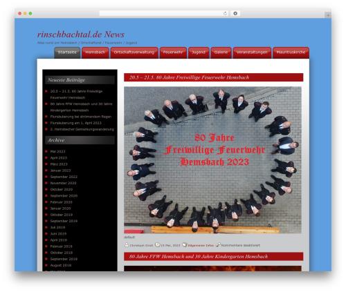 CW Red newspaper WordPress theme - rinschbachtal.de