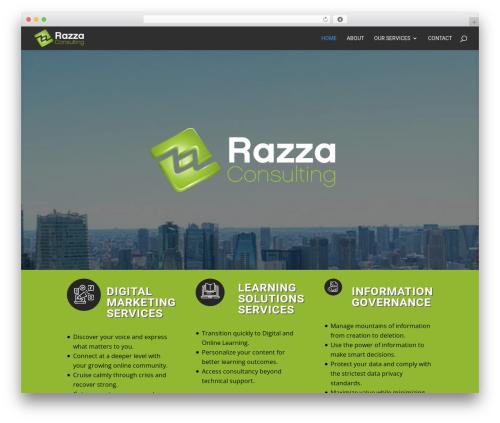 Divi company WordPress theme - razzaconsulting.com