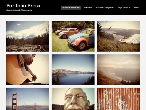 portfolio-child personal blog WordPress theme