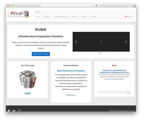 Responsive free website theme - rivalsolutions.com