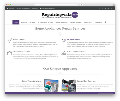 Free WordPress Theme My Login plugin - repairingwala.com