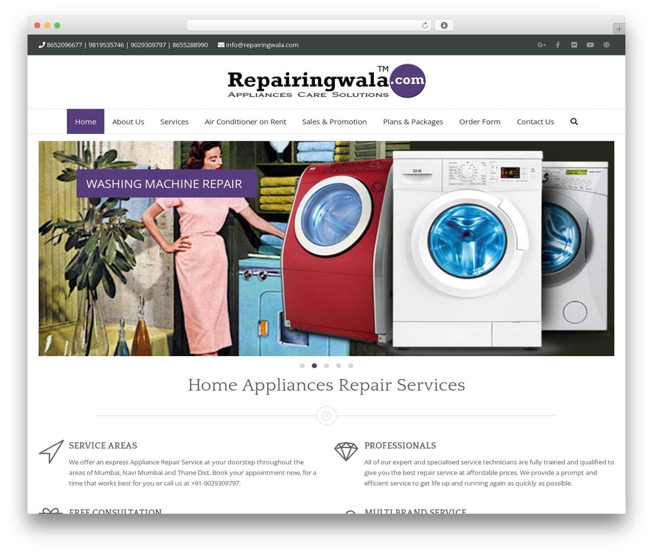 Template WordPress Adama - repairingwala.com
