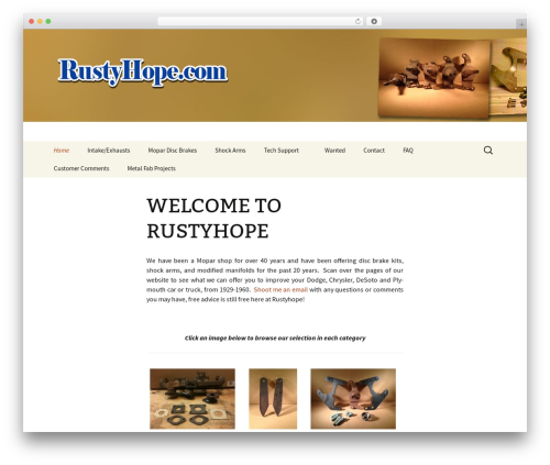 Twenty Thirteen WordPress template free - rustyhope.com