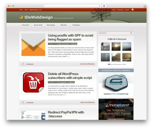 WordPress template Convergence - idowebdesign.ca