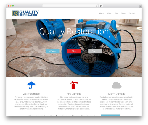 WordPress template DMS - qualityrestorationtn.com