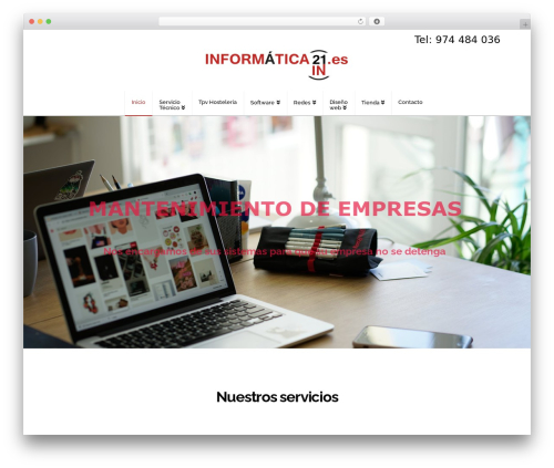 Free WordPress Cornerstone plugin - informatica21.es
