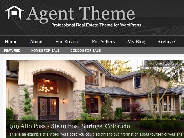 Agent WordPress Theme WordPress real estate
