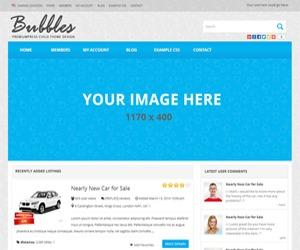 Bubbles - PremiumPress Child Theme template WordPress by