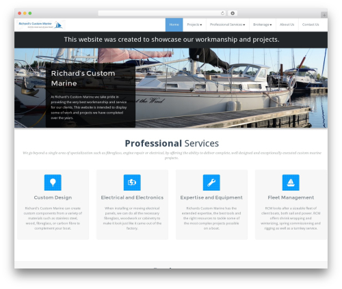 BusiProf Pro WordPress template - richardscustommarine.com