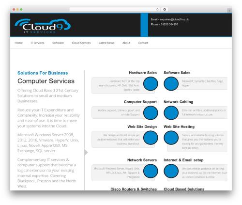 Chester best WordPress template - icloud9.co.uk