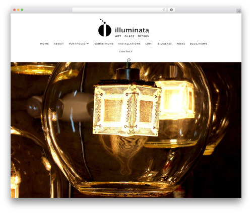 Divi WordPress theme - illuminataglass.com