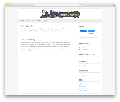 Fresh & Clean WordPress template - rolandsrecords.com