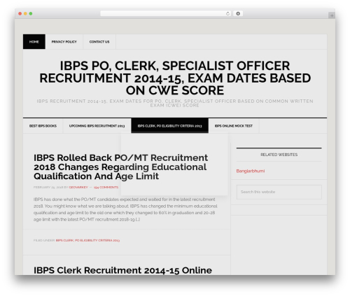 Genesis top WordPress theme - ibpsrecruitment2013.org