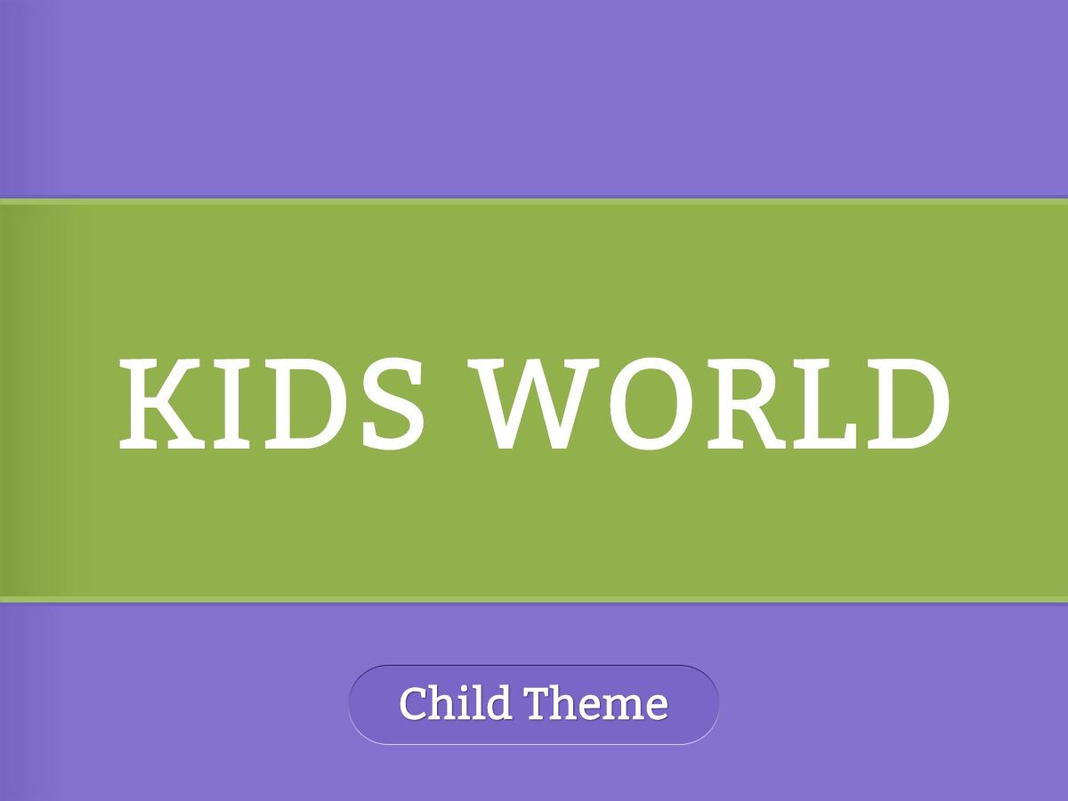 KidsWorld Child Theme WP template