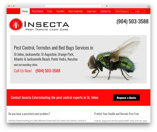 Pest Control V7 best WordPress template - insectaex.com/home