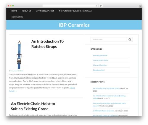 Trope WordPress page template - ibpceramics.com