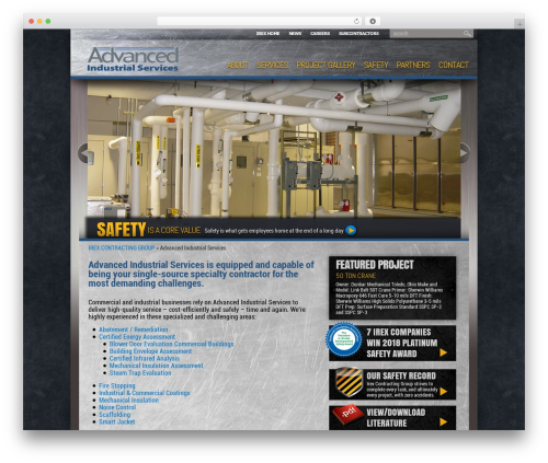 WordPress template IrexContracting - irexcontracting.com/subsidiary/advanced-industrial-services