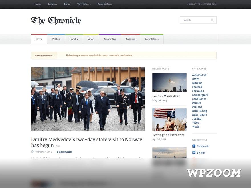 WordPress theme Chronicle